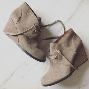 Lucky Brand Shoes - Lucky Brand Sz 8.5 Seleste Gray Beige Suede Boot